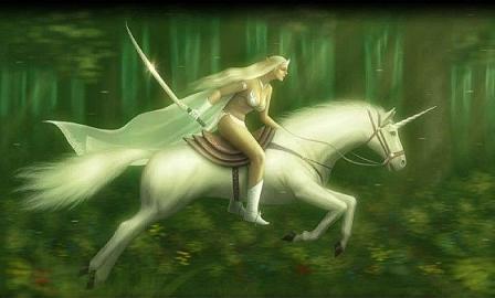 amazona y unicornio