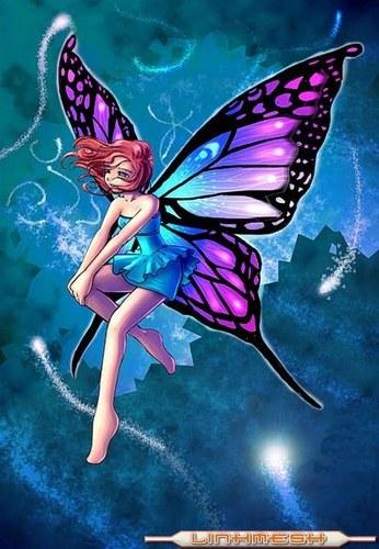 Un mundo de fantasia Hada-azul-lila